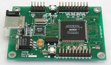EZ1KUSB - Altera ACEX FPGA development board with USB interface